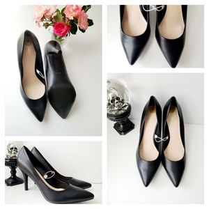 🆕️NINE WEST Pointed Toe Ultra High Heels Black 8M